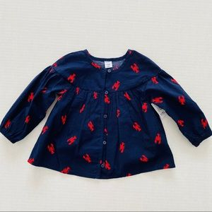 Old Navy | Lobster 100% Cotton Button Front Shirt